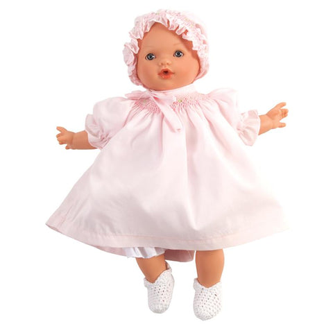 Abby Doll Pink dress/bonnet pink smock