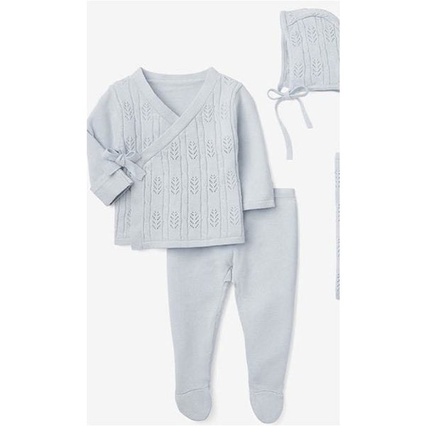 CLOUD BLUE OR GREY NEWBORN COMING HOME OUTFIT BOXED SET