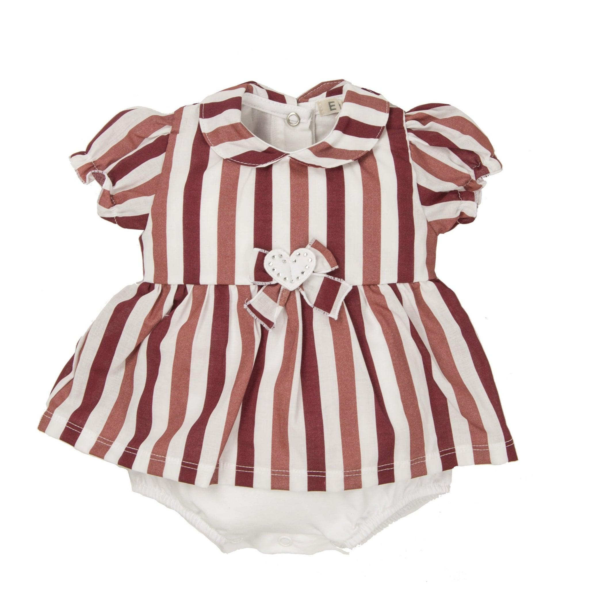 Baby Girls Short Sleeve Dress/Romper