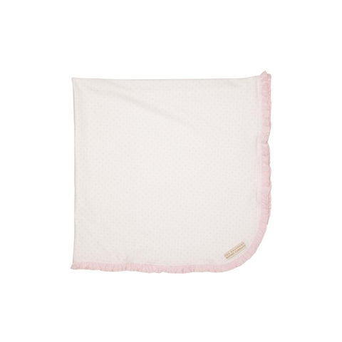 Baby Buggy Blanket Plantation Pink Micro Dot with Plantation Pink