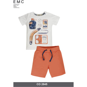 Graphic Tee and Fleece Short Set Boys by EMC