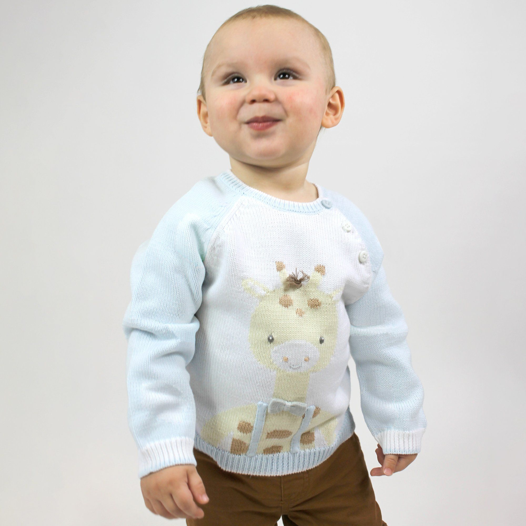 George the Giraffe Knit Sweater