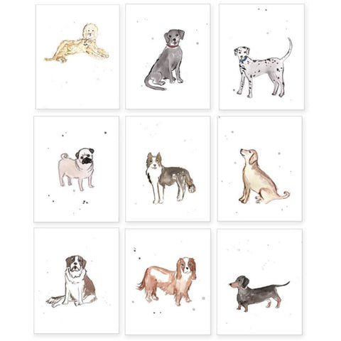 Puppy Dog Nursery Matted Prints 11X14