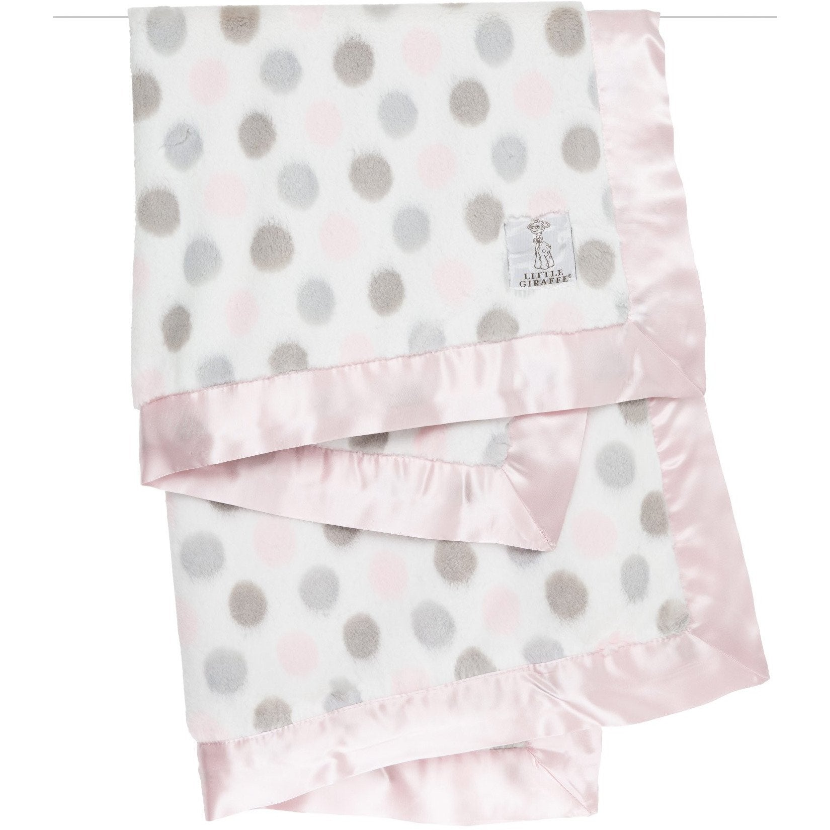 Luxe™ Dot Baby Blanket Pink or Blue