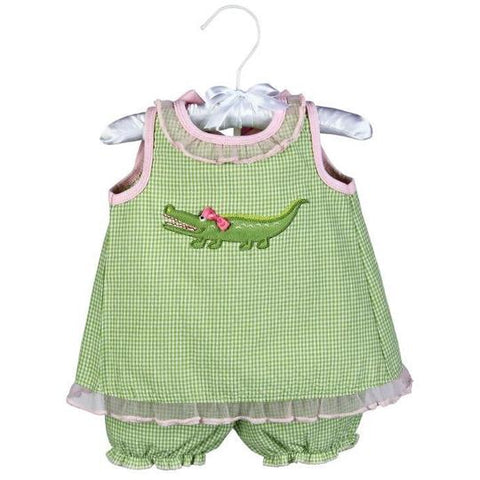 GABBY THE GATOR SUNDRESS & BLOOMERS 0-6MO