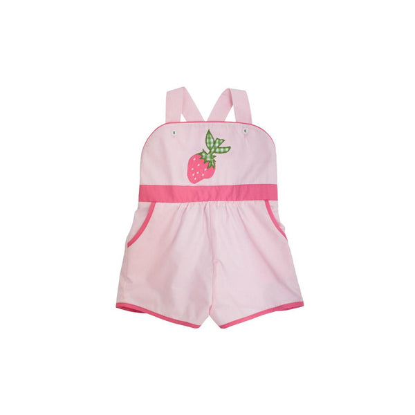 Ruthie Romper Palm Beach Pink with Hamptons Hot Pink and Strawberry Applique