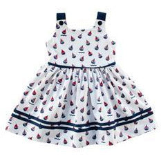 Sailor Print Dress