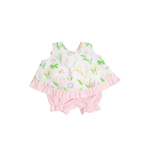 Susy Swing Top Set Belvedere Blooms with Palm Beach Pink