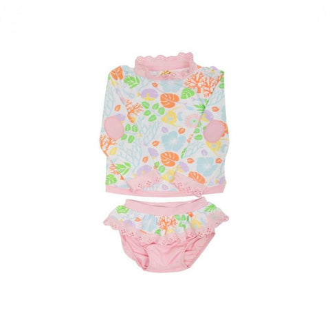 Wave Spotter Swim Set Bimini Botanical with Palm Beach Pink