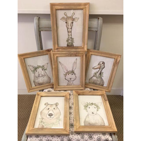 Wood Framed Animal Prints