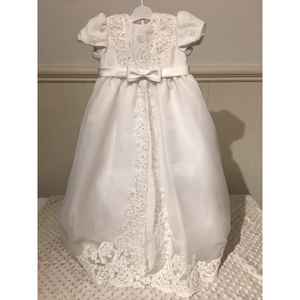 Christening Gown w/Bonnet, Embroidered Tulle, girls