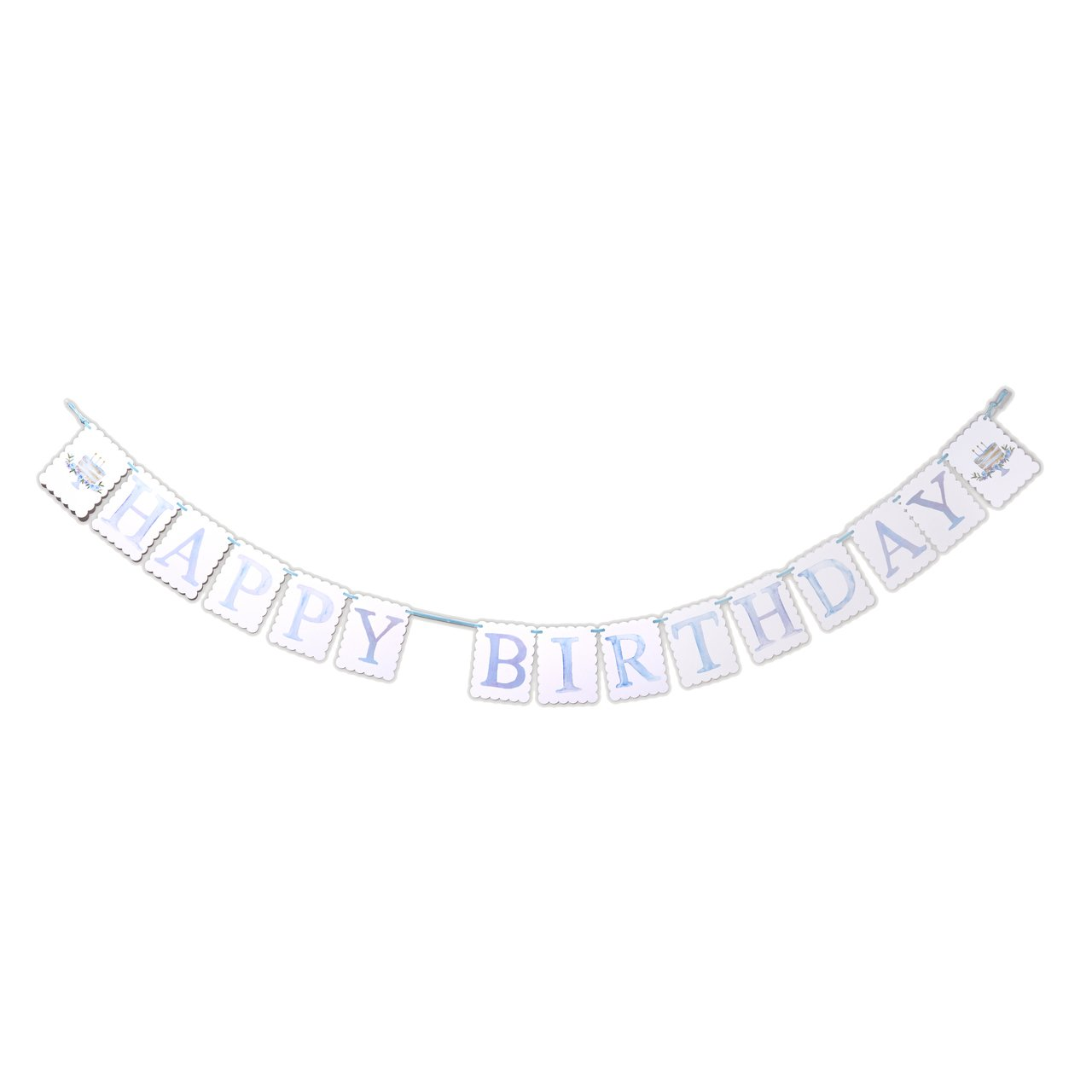 Banner Happy Birthday Reversible Pink or Blue