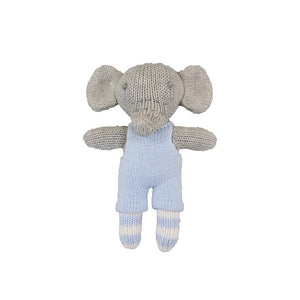 Bertie the Elephant Knit Toy Rattle