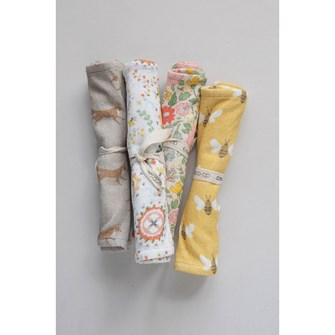 W Cotton Baby Burp Cloth Set of 4