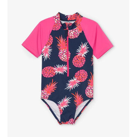Party Pineapples Rashguard One Piece