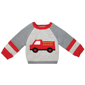 Fire Truck Knit Sweater