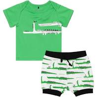 Island Green Top and Short Set