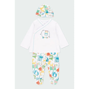 3 pc Layette Set, elephant