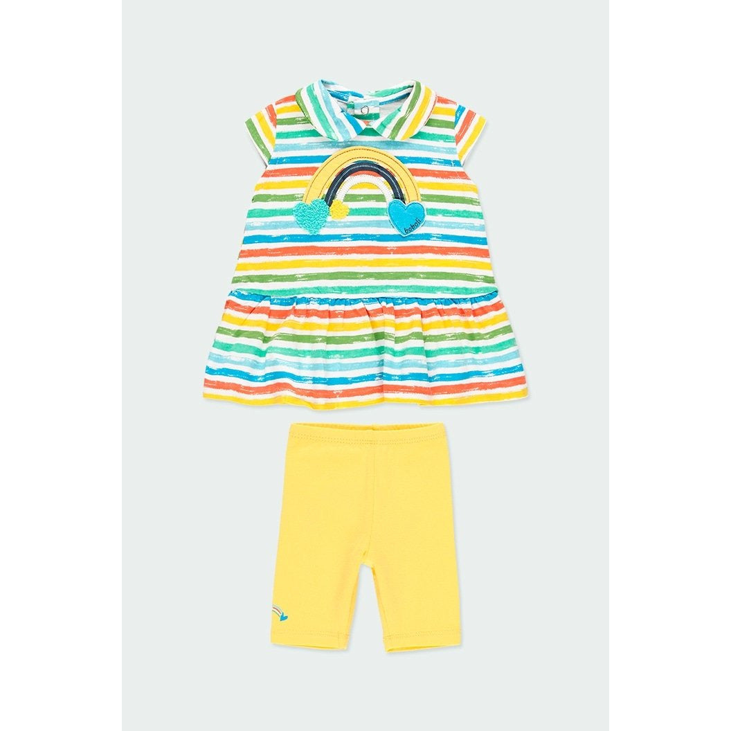 Baby girl striped knit pack