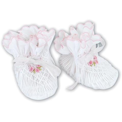 Hand Smocked Booties 3 Different Colors and Sizes