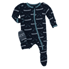 Canoe Footed Pajama in Stone Grey