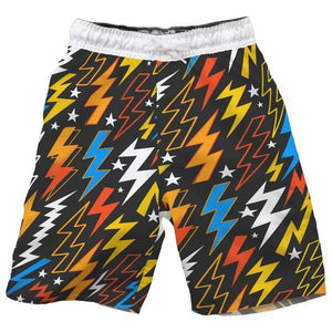 WES & WILLY BOYS COLORFUL LIGHTNING BOLT SWIM TRUNKS