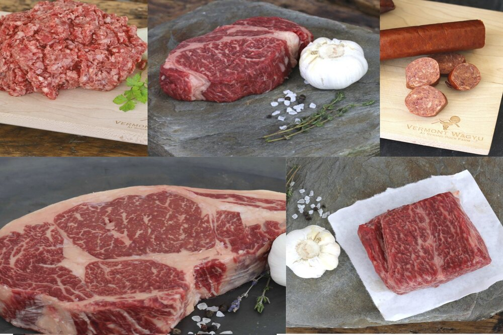 Bundle: Forequarter - Denver Steak, Delmonico, Rib Eye, Burger, Chorizo - Save 5%