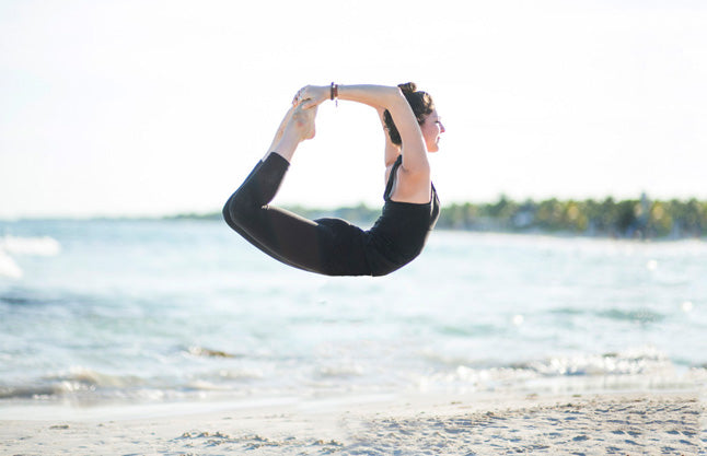Julia Ahrens flaunts her yoga moves while on vacation in Tulum, Mexico.