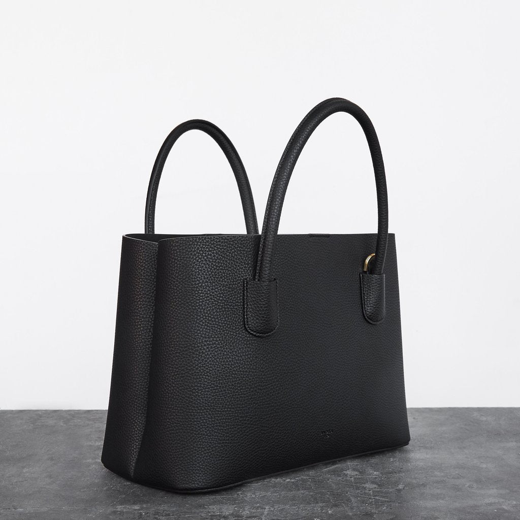 Cher Tote with Signet in Black