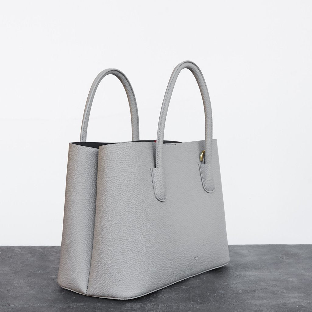 Cher Tote with Signet in Light Grey
