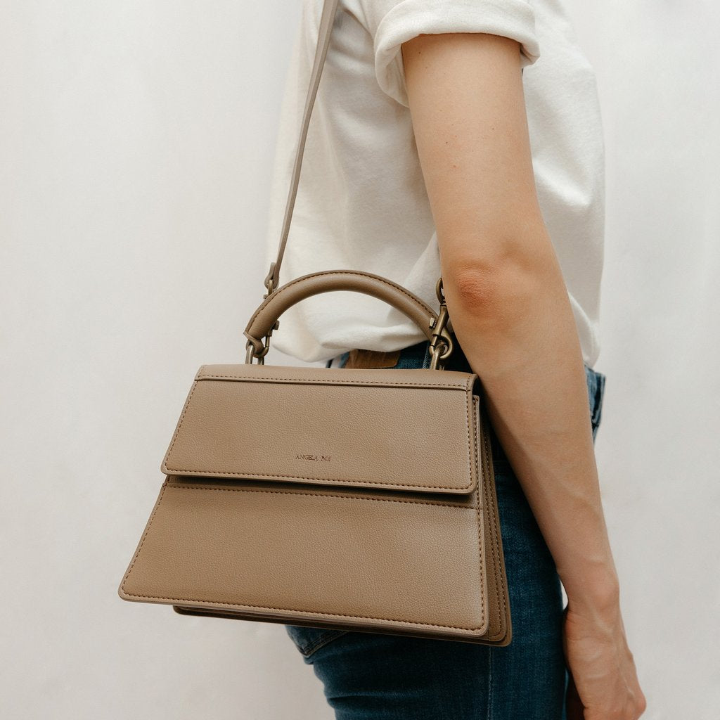 Hamilton Satchel in Mud Beige