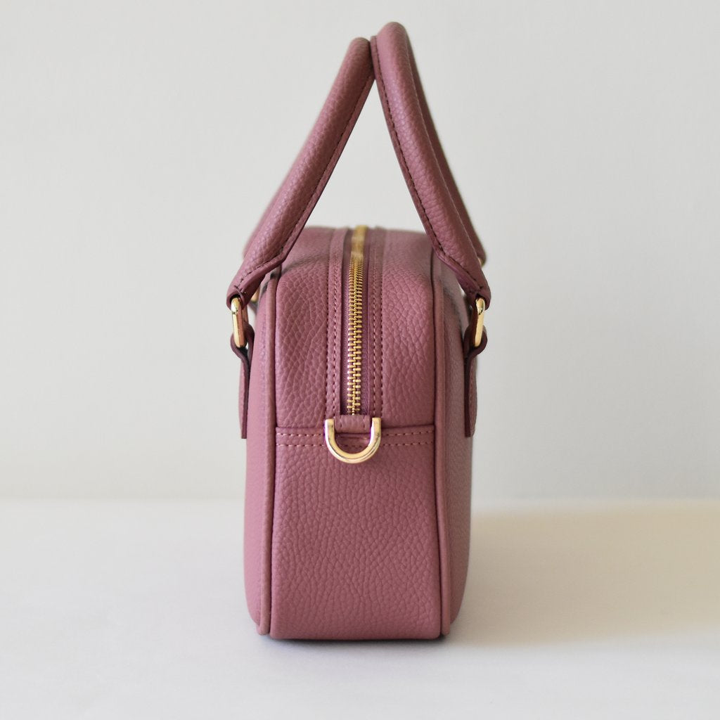 Angela Roi Vegan Barton Mini in Nude Pink, side view