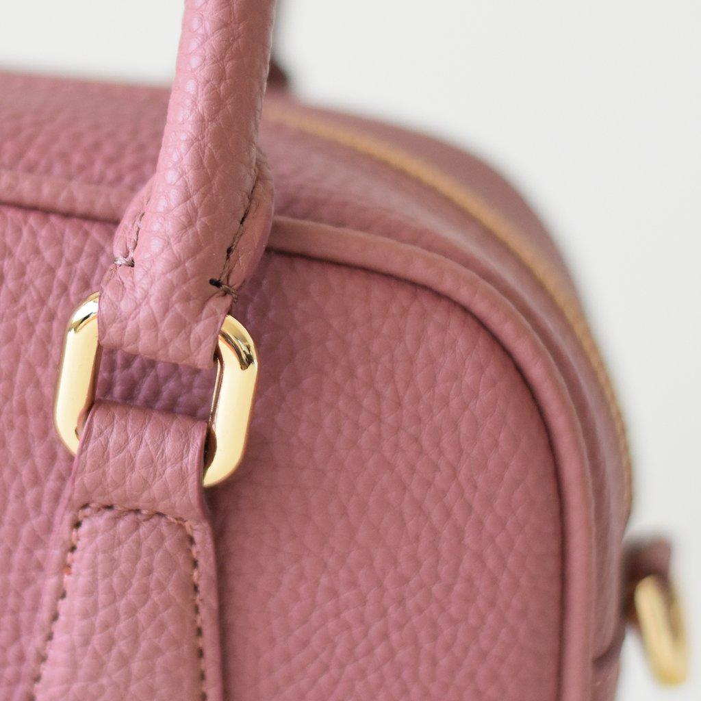 Angela Roi Vegan Barton Mini in Nude Pink, strap detail
