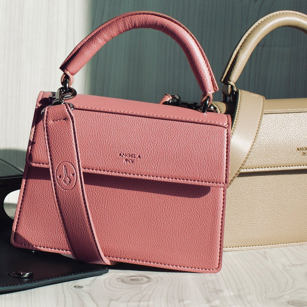 Hamilton Satchel Micro with Signet in Nude Pink