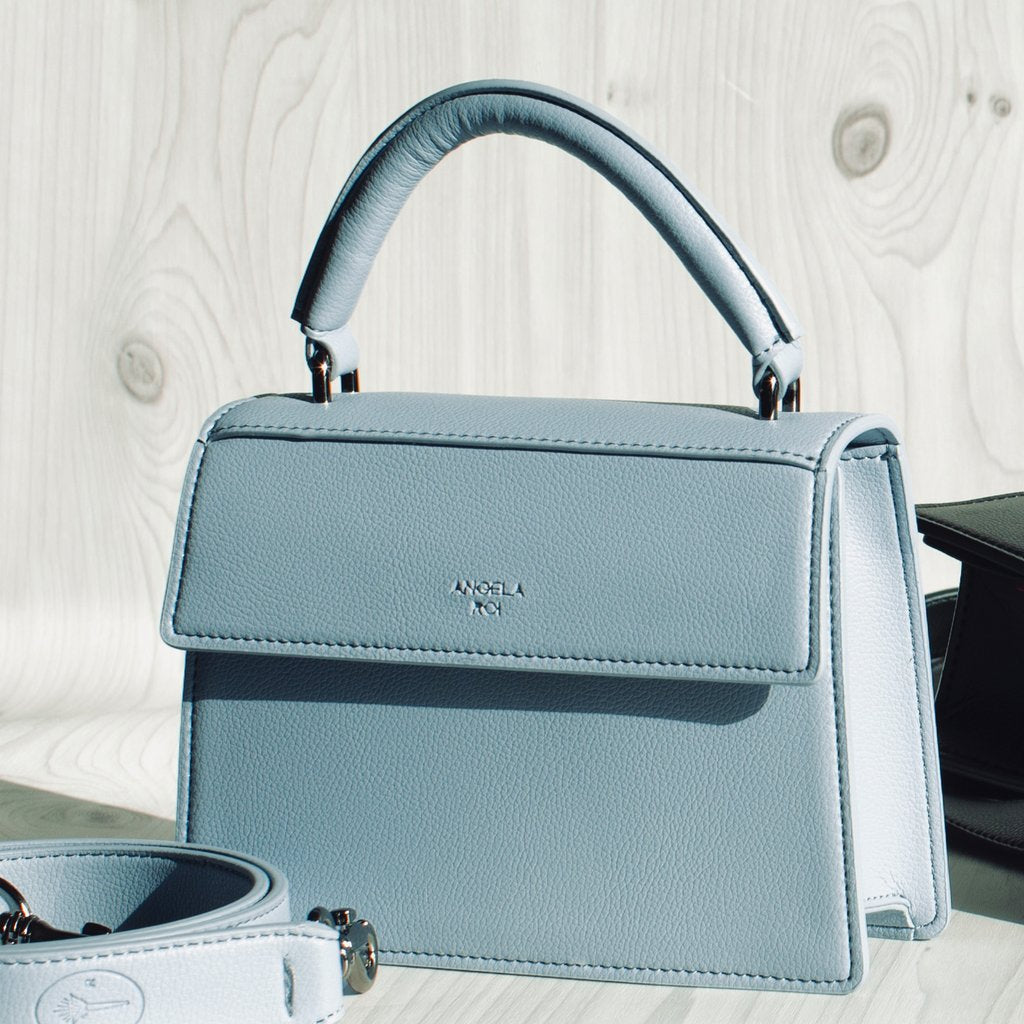 Hamilton Satchel Micro with Signet in Nude Light Blue