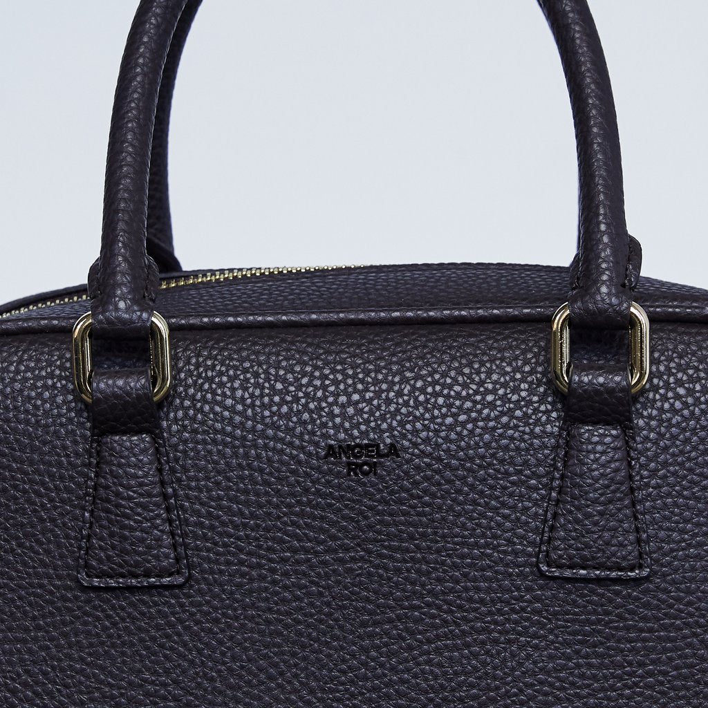 Barton Duffle Tote with Signet in Dark Brown