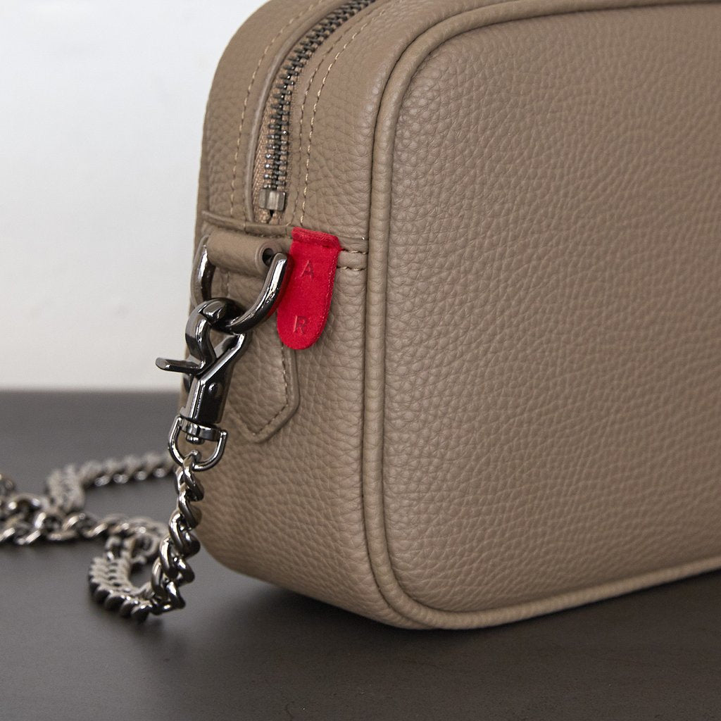 Grace Mini Crossbody with Signet in Light Mud Grey