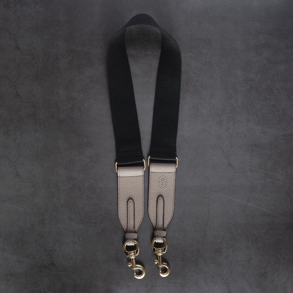 Webbing Bag Strap in Black/Light Mud Grey