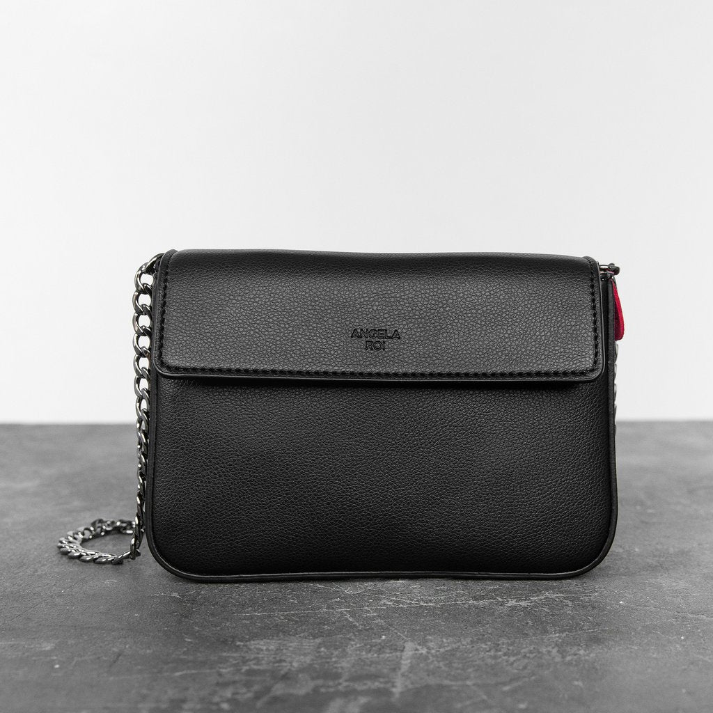 Hamilton Mini Chain Crossbody with Signet in Black