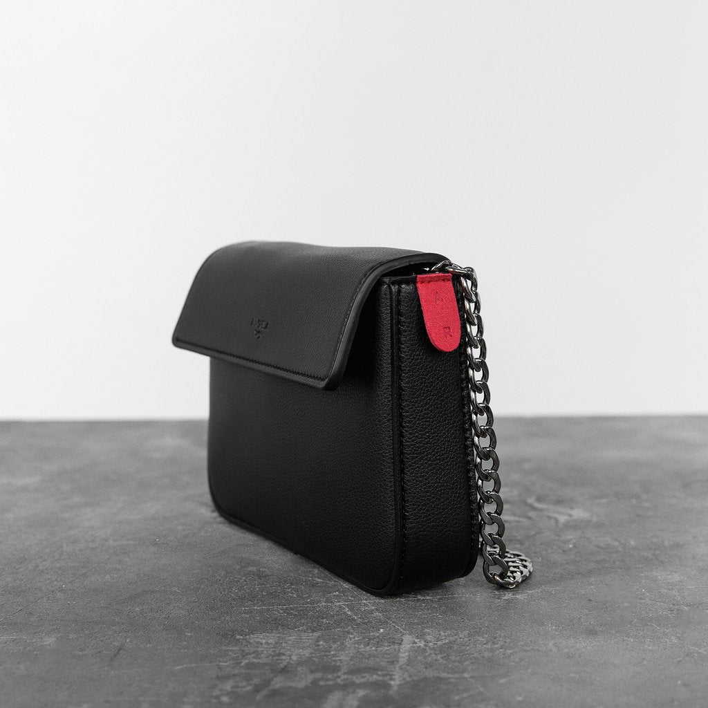 Hamilton Mini Chain Cross-body in Black
