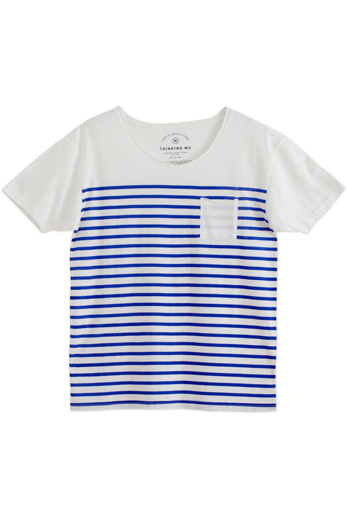 Thinking Mu Organic cotton Rayada tee