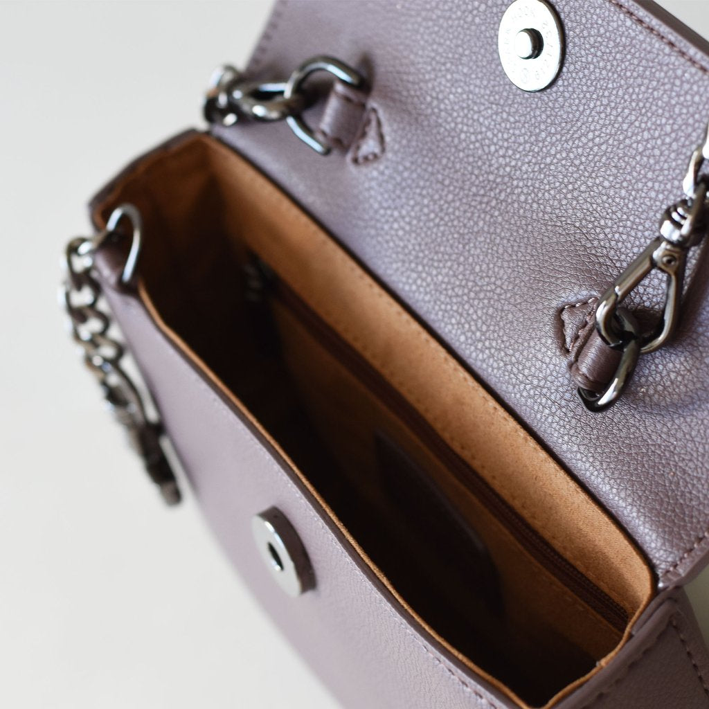Hamilton Mini Chain Crossbody with Signet in Ash Rose