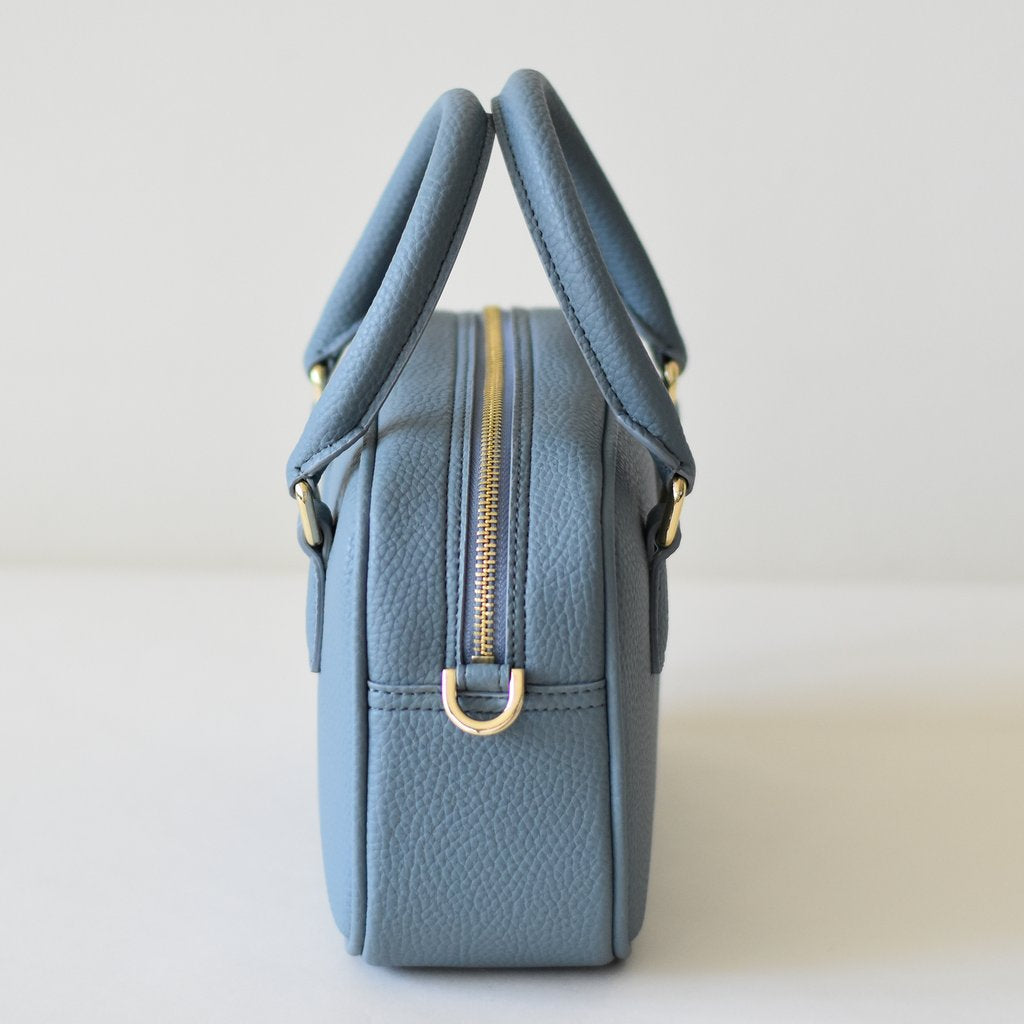 Angela Roi Vegan Barton Mini in Nude Blue, side view