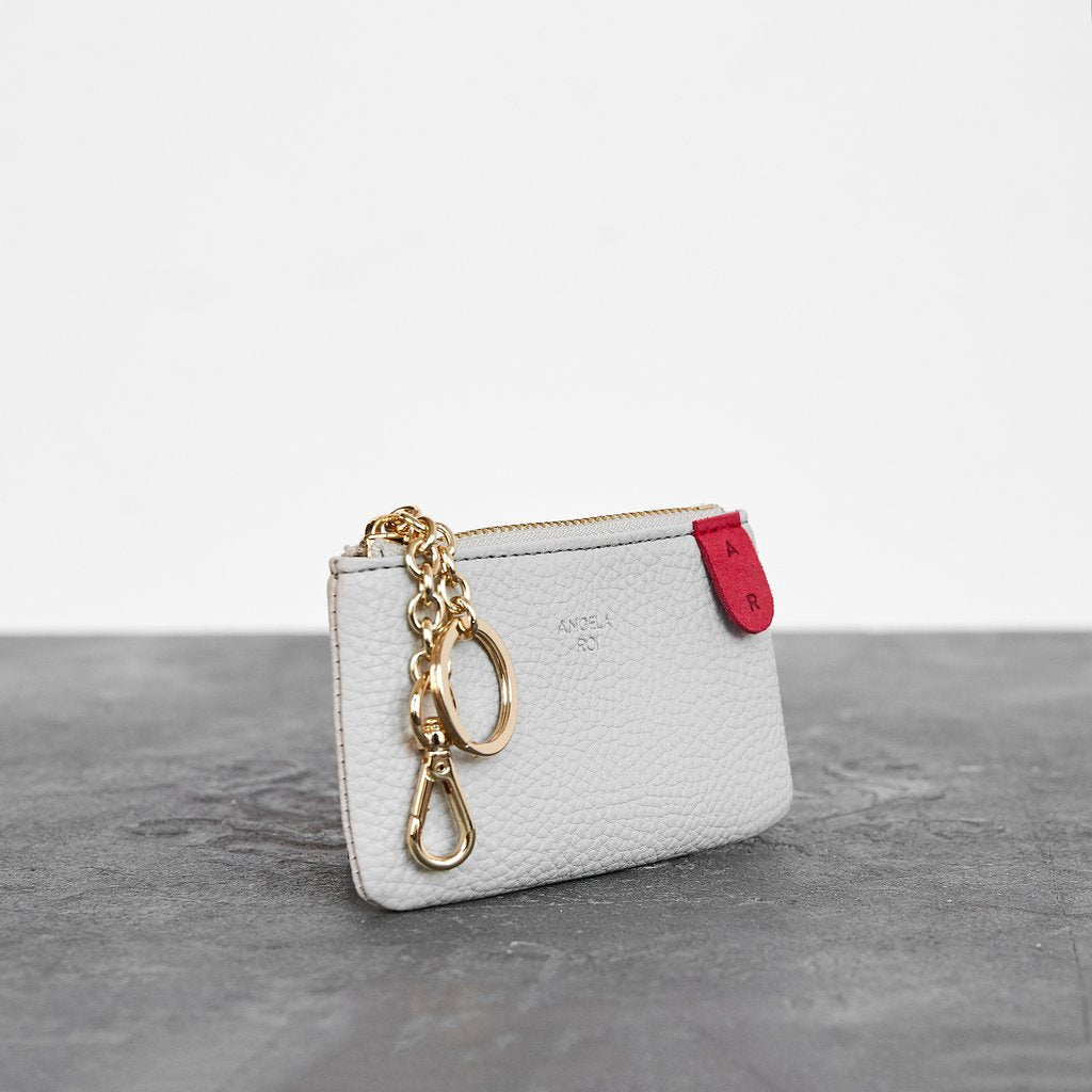 Zuri Card Pouch with Signet in Cloud