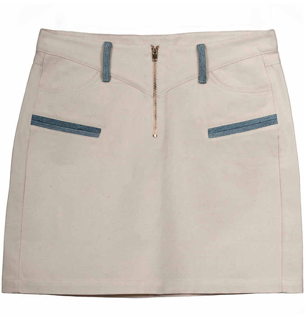 Miakoda Organic Cotton Mini Skirt, front view