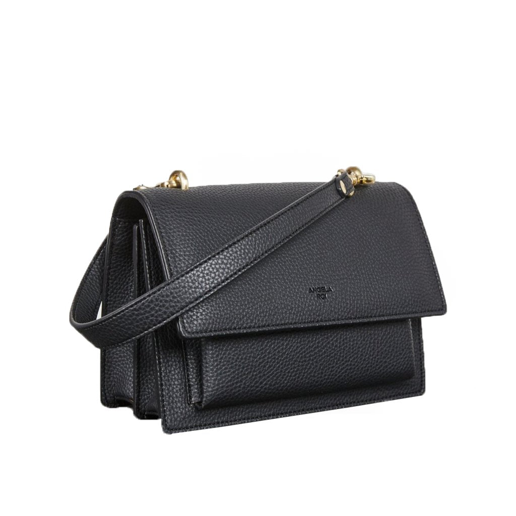 Eloise Satchel with Signet in Black