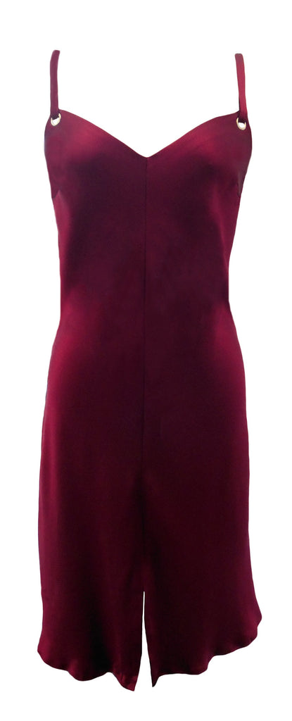 Delores Haze eco-friendly Willa Silk Slip Dress, front view