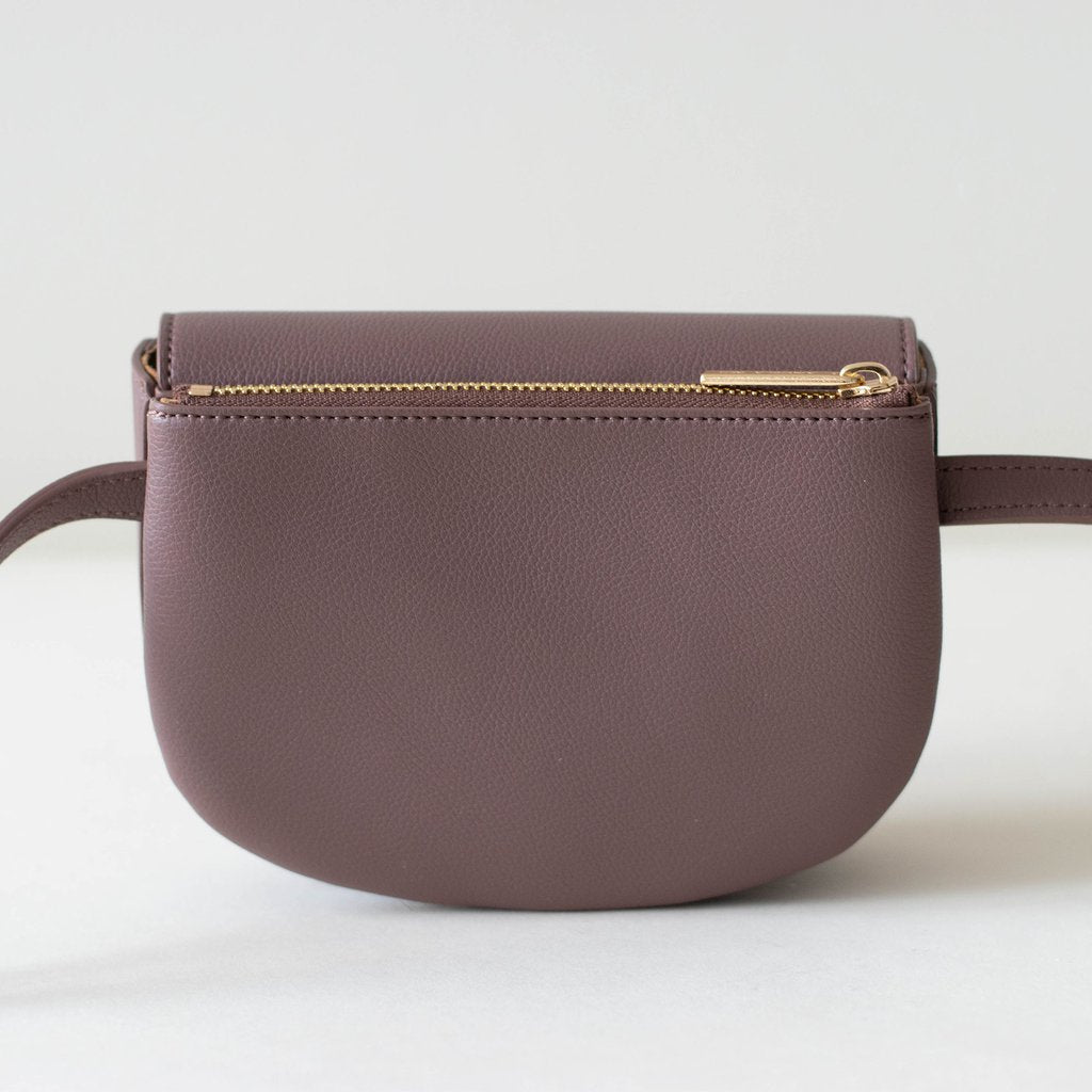 Hamilton Belt Bag / Cross-body in Ash Rose back view