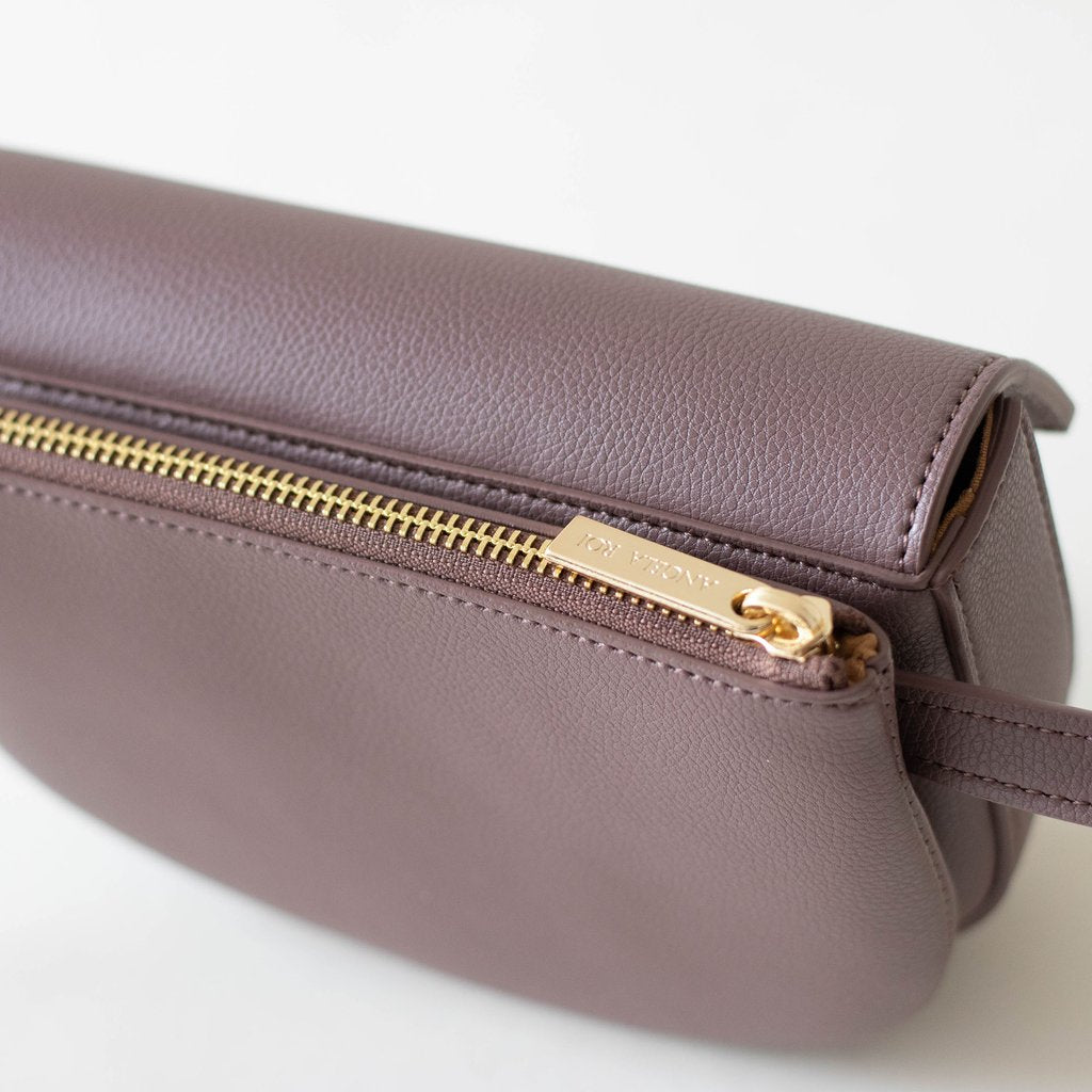 Hamilton Belt Bag / Cross-body in Ash Rose top view closed