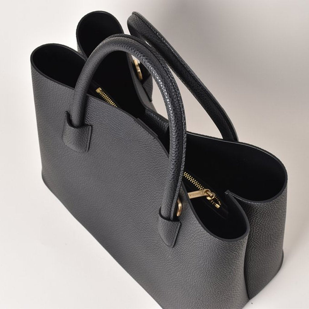 Angela Roi Vegan Cher Tote in Black, top view